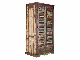 Massiv Holz Kleiderschrank Teak Im Vintage Style Altholz