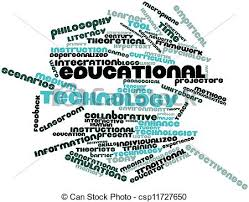 Abstract Word Cloud For Educational Technology With Related Tags And