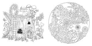 simplified magical jungle coloring pages enchanted forest an inky quest book at