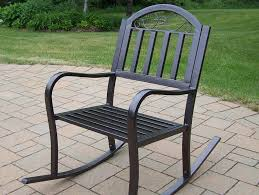 image of simple black outdoor rocking chairs