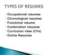 ... and leadership qualities; 3.  Occupational resumes ...