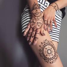 Perfect Henna Kit Floral Mandala On The Leg Glove Fingers