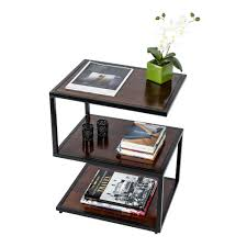 S Shaped Coffee Table Buy Modern S Shape Side Table Solid Mango Wood Dark Shade With