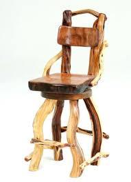 rustic wood bar stools log redwood cedar juniper stool and wooden uk