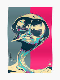 Raoul Size Chart Fear And Loathing In Las Vegas Revisited Psychedelic Raoul Duke Poster