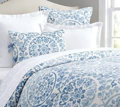 pottery barn white bedding medallion duvet cover sham blue pottery barn blue and white bedding pottery pottery barn white bedding