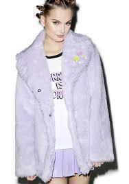local heroes pastel faux fur coat