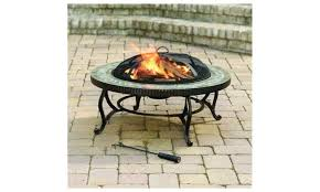 fire pit table lid in outdoor slate fire pit with table lid cooking grate fire sense