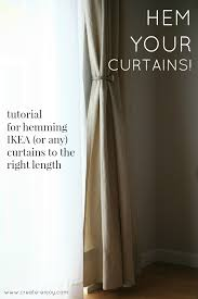 how to hem ikea or any curtains