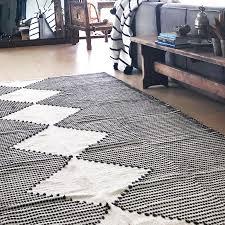 evie blue diamond rug collective sol