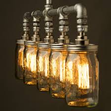 jar lighting. Teardrop Bulb And Jar Pipe Chandelier End Ac289lectricite Enchanting Mason Light Fixture Pendant Archived On Interior Lighting T
