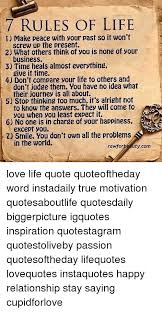 40 RULES OF LIFE I Make Peace With Your Past So It Wont 40 What Others Inspiration 7 Rules Of Life Quote