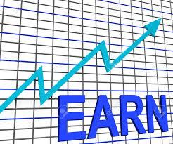 Chart Showing Increase Earn Graph Chart Showing Increase Earnings Growing