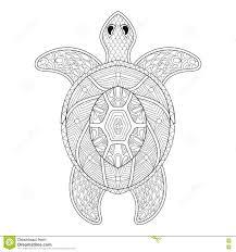 черепаха в стиле Zentangle Freehand эскиз для взрослое Antistress