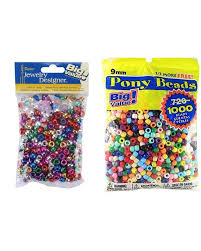 Darice Jewelry Designer Beads Darice Pony Beads Multi Metallic 1360