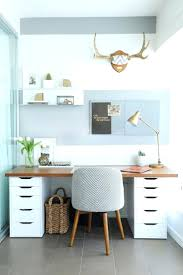 guest room office ideas. Living Room Office Combination Ideas Guest Home Small Desk Idea Balance A Wooden Board Across Two Ikea