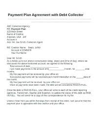 Sample Agreement To Pay Debt Payment Plan Agreement Letter Template Free Bridgeoflochay Co
