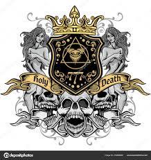 Vintage Design Gothic Sign Skull Grunge Vintage Design Shirts Stock