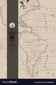 The Old Sea Charts And A Sailing Ship