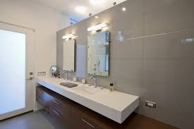 modern bathroom lighting. Horizontal Vanity Light Bathroom Lights Chrome Finish Clear Glass Lighting Modern