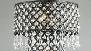 archaicawful crystal flush mount chandelier 3 light antique black 7 black metal flush mount lighting