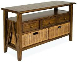 pier 1 console table pier one console table drawer with storage baskets by riverside furniture hand