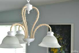 spray paint chandelier updating a boring light fixture rope wrapped chandelier refresh spray paint brass chandelier