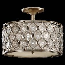 Feiss Lucia 3 Light Semi Flush Mount Murray Feiss Sf289bus Lucia Semi Flush Fixture In Burnished