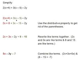 example 3 using the distributive property