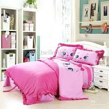 girls bedroom decoration embroidered cat pink bedding sets children twin size kids duvet cover bed sheet outstanding interior remarkable cute teen bedding