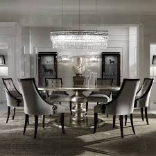 large round italian champagne leaf dining table and chairs