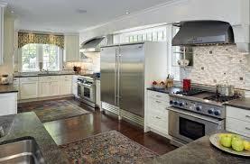 chef kitchen design. chef kitchen subzero refrig and freezer via houzz design