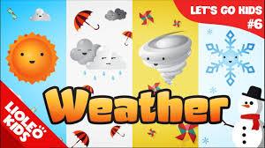 Bé học tiếng Anh về Thời tiết [Trọn bộ 20 chủ đề từ vựng sách Let's go]  [Lioleo Kids] - YouTube