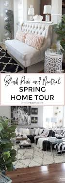 home office repin image sofa wall. Blush Pink And Neutral Decor Spring Home Tour Office Repin Image Sofa Wall