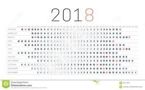 Moon Calendar 2018 Stock Vector Illustration Of Dark