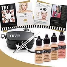 amazon tru airbrush makeup kit light um mineral foundation 6 piece makeup set beauty