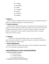 modification of teachers behaviours teacher 2