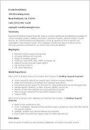 Resume Format For Desktop Support Engineer Desktop Support Specialist Resume Contract Support Specialist Resume