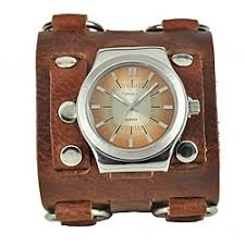 nemesis watches overstock com the best prices on designer mens nemesis men s wide sunrise leather cuff watch