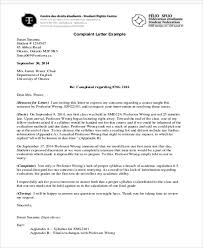 Letter Of Complaints Sample Sample Business Complaint Letter 7 Examples In Word Pdf