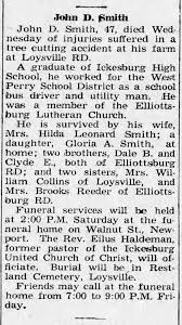 Obit: John Dean Smith, 47, died Wed., Dec.28, 1966, of injuries suffered in  a tree cutting accident. - Newspapers.com