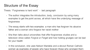 essay analysis forgiveness anna lauren lia monica shelley 6 structure of the essay thesis ldquoforgiveness