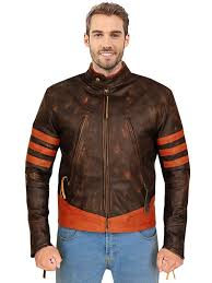 x men origins wolverine brown leather jacket