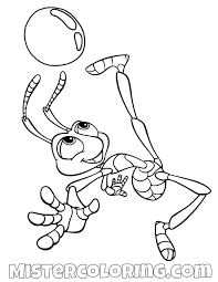 Water Drop Coloring Page Flick Kicking A Water Drop A Bugs Life Coloring Page A