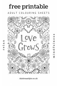 Love inspirational word coloring pages? Free Printable Adult Colouring Pages With Inspirational Quotes Daisies Pie