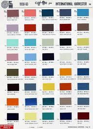 1959 63 International Color Chart 1966 Chevy Truck Chevy