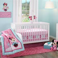 Pink Minnie Mouse Bedroom Decor Minnie Mouse Happy Day 3 Piece Crib Set Disney Baby