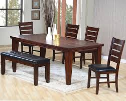 Red dining table set Modern Transitional Style Dining Room With Cheap Beadboard Wooden Table Top Cherry Red Dining Tables Sets And Black Vinyl Pads Wooden Bench Detainee 063 Cheap Dining Room Table Sets Classic Elegant Dining Room With