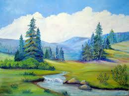 landscape paintings mountains buscar con google