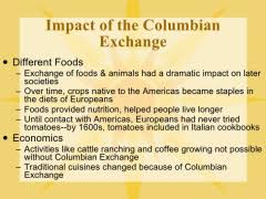 columbian exchange photo essay effects of the columbian exchange